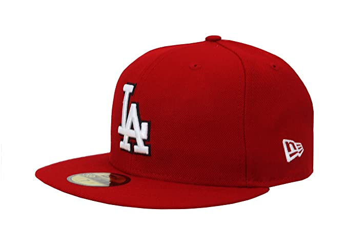 f7a81ccdcb4 New Era. 59Fifty Hat Los Angeles Dodgers MLB Baseball Red Fitted Headwear  Cap (6