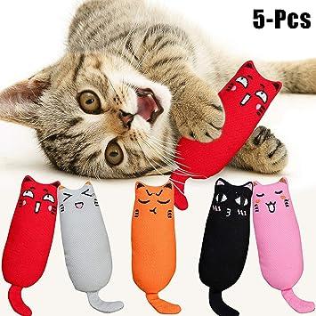 Legendog Juguetes para Gatos, Juguete Interactivo para Gatos con Plumas para Kitty (5-Pcs Hierba gatera)