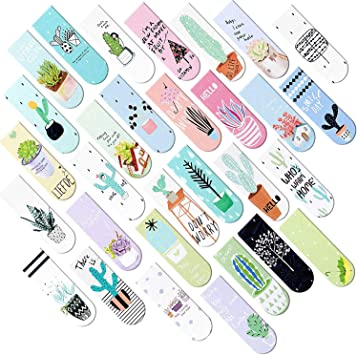 30 Pieces Magnetic Bookmarks Cute Magnet Page Markers Magnet Page Clips Bookmark for Student Office Reading Stationery