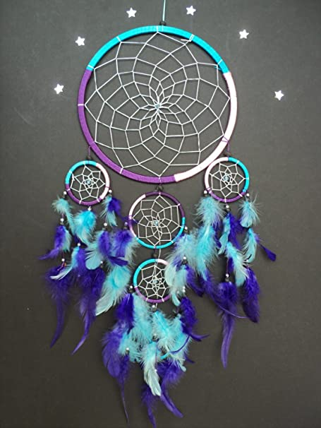Large Dream Catcher Purple Pink Turquoise Dreamcatcher Amazoncouk Simple Set It Off Dream Catcher