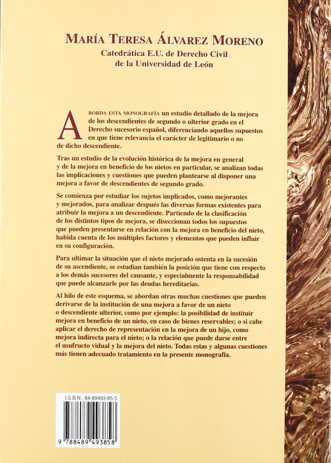 La mejora en favor de los nietos: MARIA TERESA ALVAREZ MORENO: 9788489493858: Amazon.com: Books