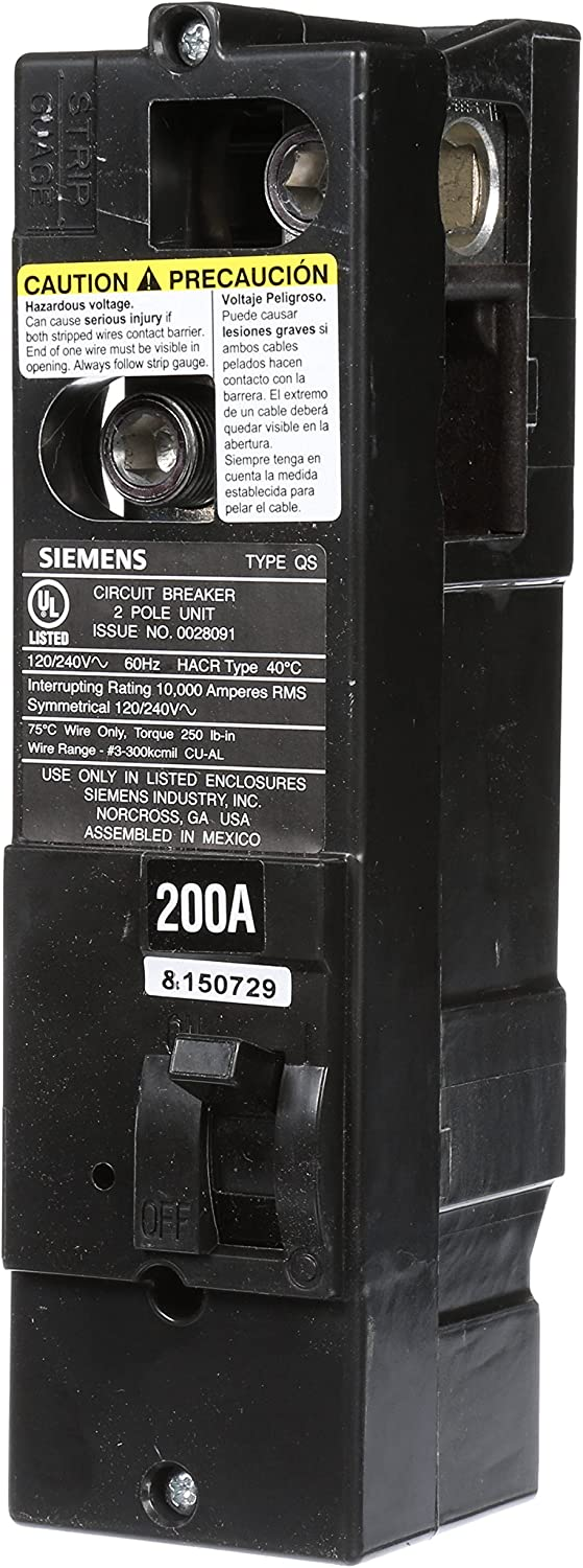 Siemens QS2200 QS Type 200-Amp Multi-Family Main Breaker, 10 KAIC Rated