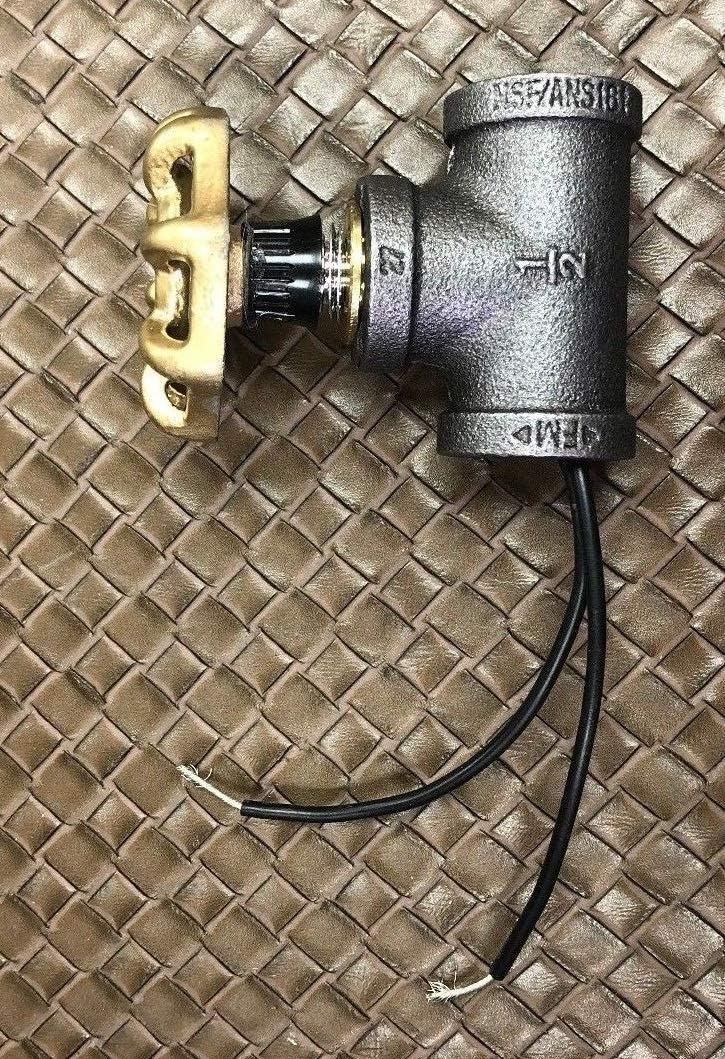 """STEAMPUNK ~ INDUSTRIAL 1//2/"""" BLACK IRON PIPE ROTARY LAMP SWITCH W//RED HANDLE"""