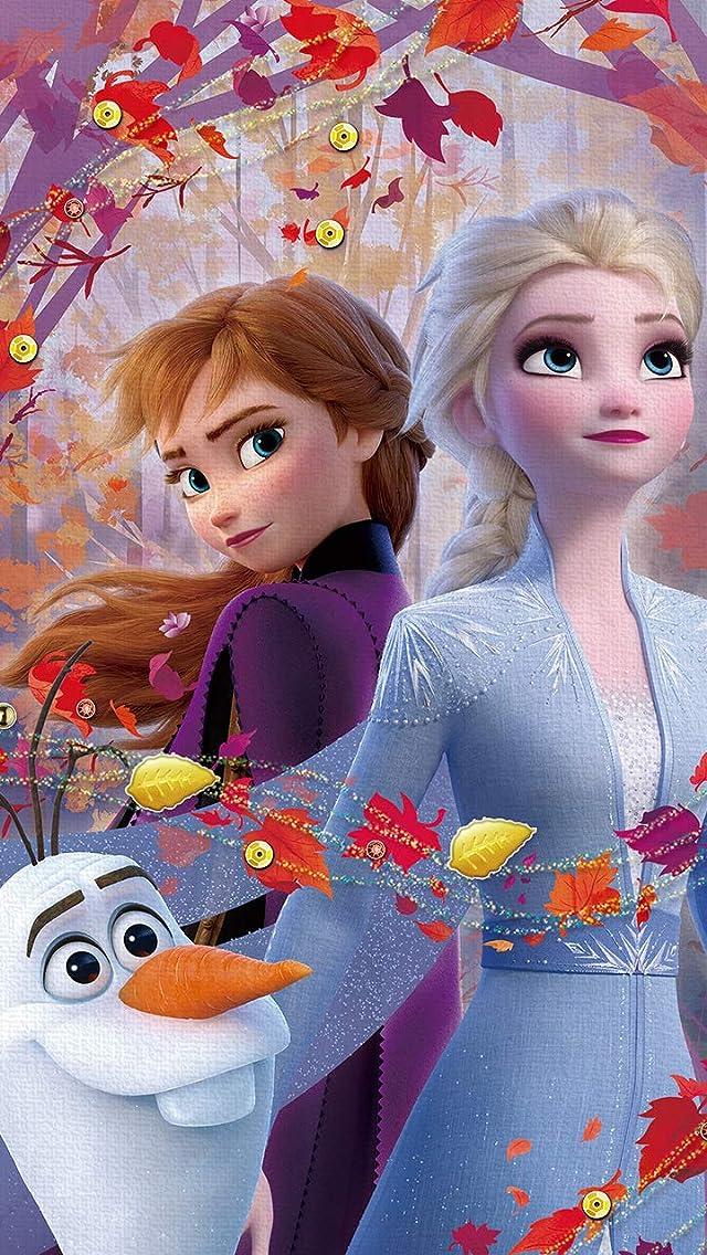 ディズニー アナと雪の女王2 (オラフ,アナ,エルサ) iPhoneSE/5s/5c/5(640×1136)壁紙画像
