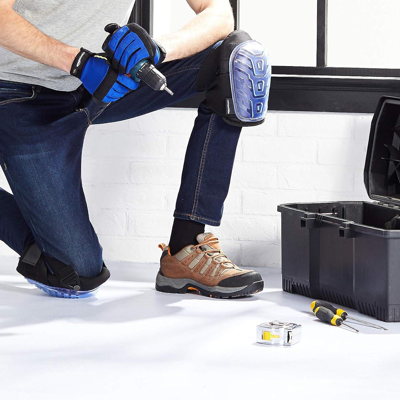 robuste Schaum-Polsterung 1 Paar leicht fixierbare Verschl/üsse Professionelle Knieschoner verstellbare bequemes Gel-Polster schwarz Basics