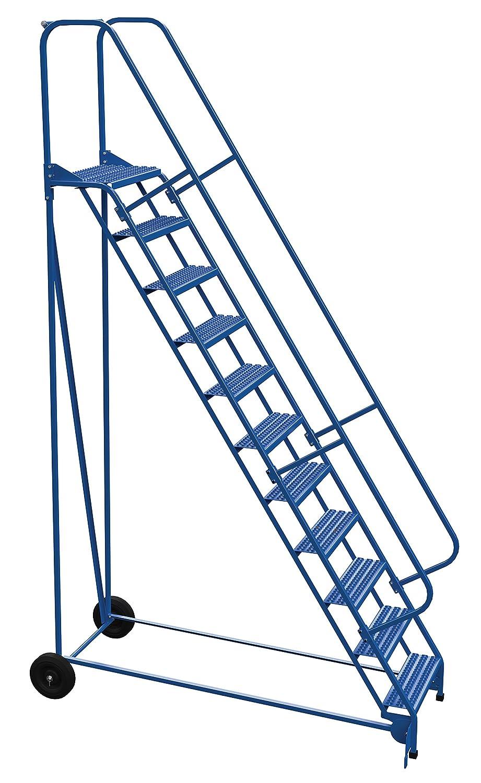 Vestil LAD-RAF-11-24-G - Escalera enrollable plegable (58 grados, 11 peldaños), color azul: Amazon.es: Amazon.es