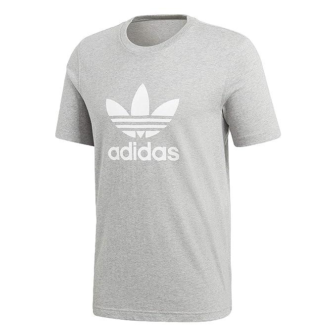 adidas Originals Mens Trefoil T Shirt Medium Grey Heather