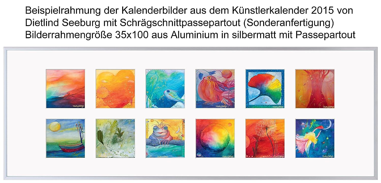Bilderrahmen Collage 25x70 gold matt Kunststoff schmal ...