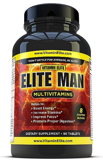 Elite Man Multivitamins - Advanced Multivitamin for Men Formula Helps Boost  Energy & Enhance