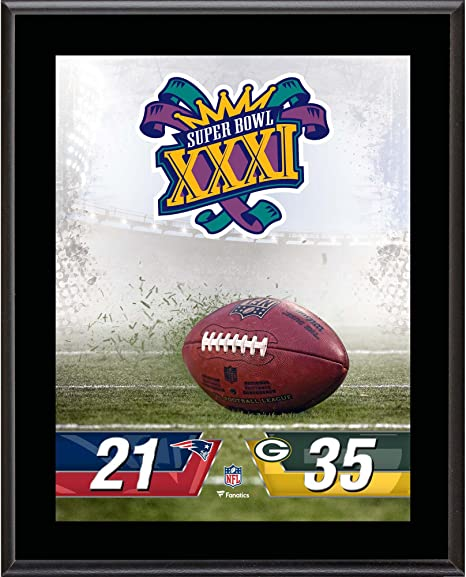 a782bdb50 Image Unavailable. Image not available for. Color  Green Bay Packers vs. New  England Patriots Super Bowl XXXI ...
