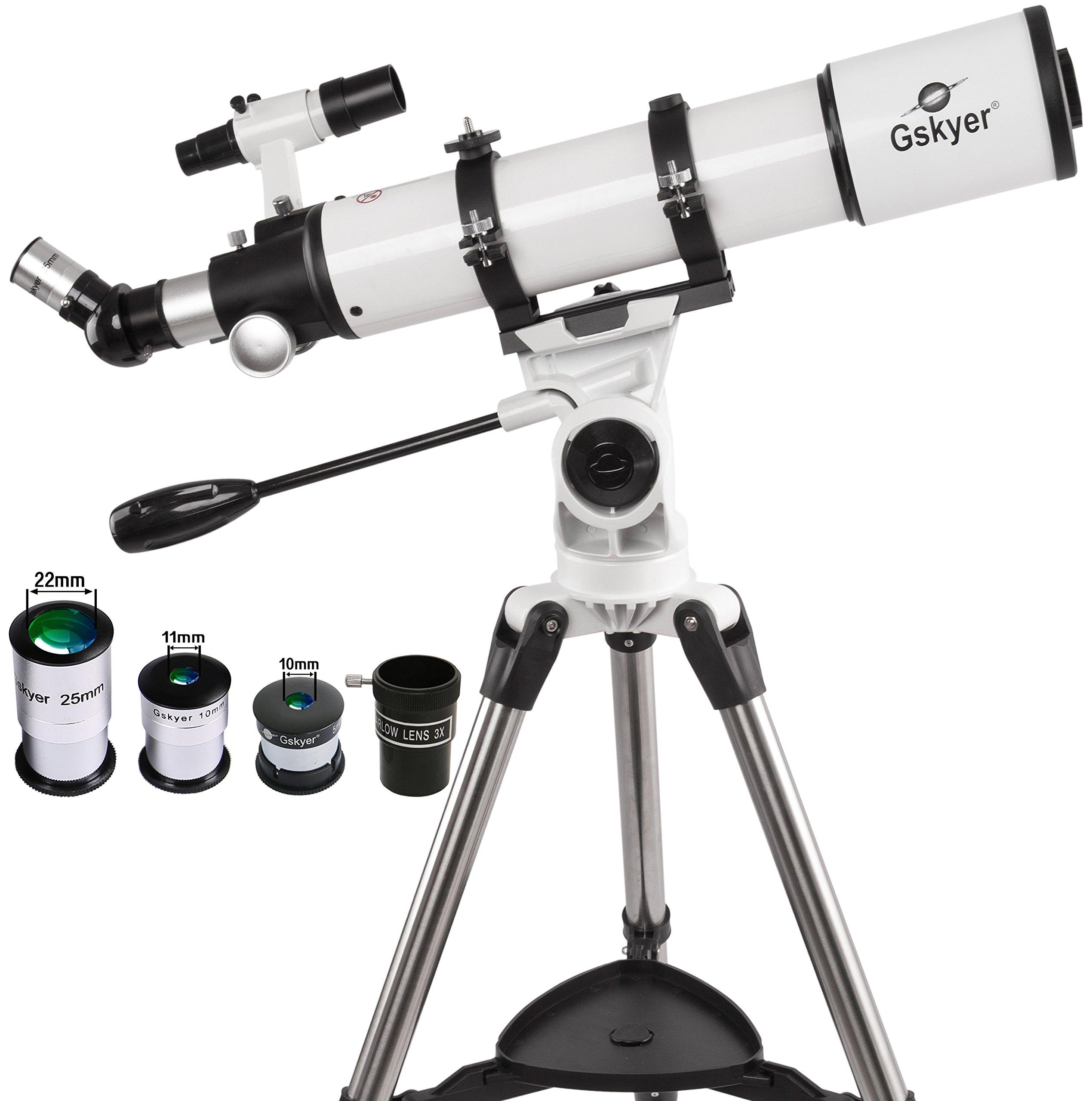 Gskyer Telescope, 600x90mm AZ Astronomical Refractor Telescope, German Technology Scope by Gskyer