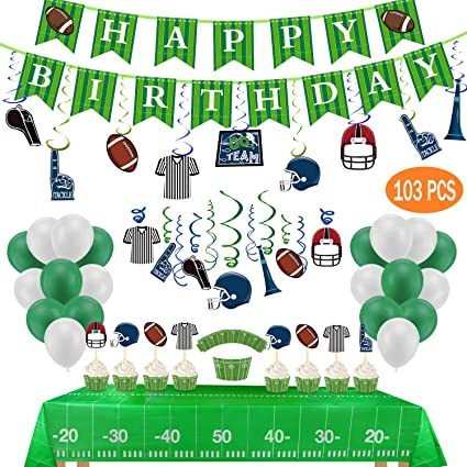 Amazon Com Football Birthday Party Decorations Include 2