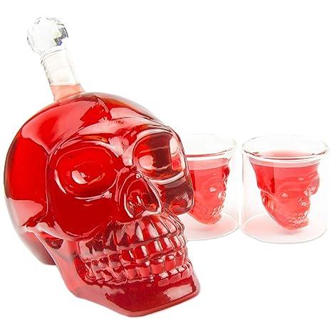 Totenkopf Schnappsglas Totenkopf Glas Skull Shot Party Schnapsgläser 70ml NEU
