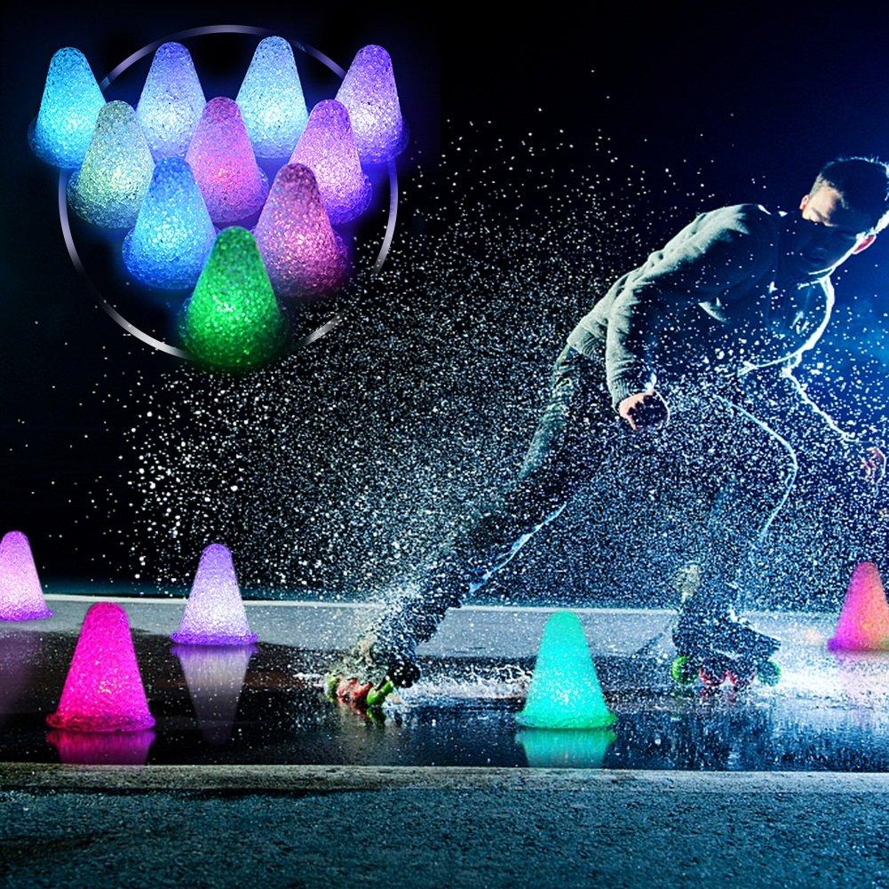 直送商品 wonderfulwuスケートコーン、7色変更LED光クリスタルPile Roller Noctilucent Skating B0774NJMVM Noctilucent Pileのスケート練習トレーニング B0774NJMVM, 豆の専門店 豆や:96cef827 --- crisscross.co.in