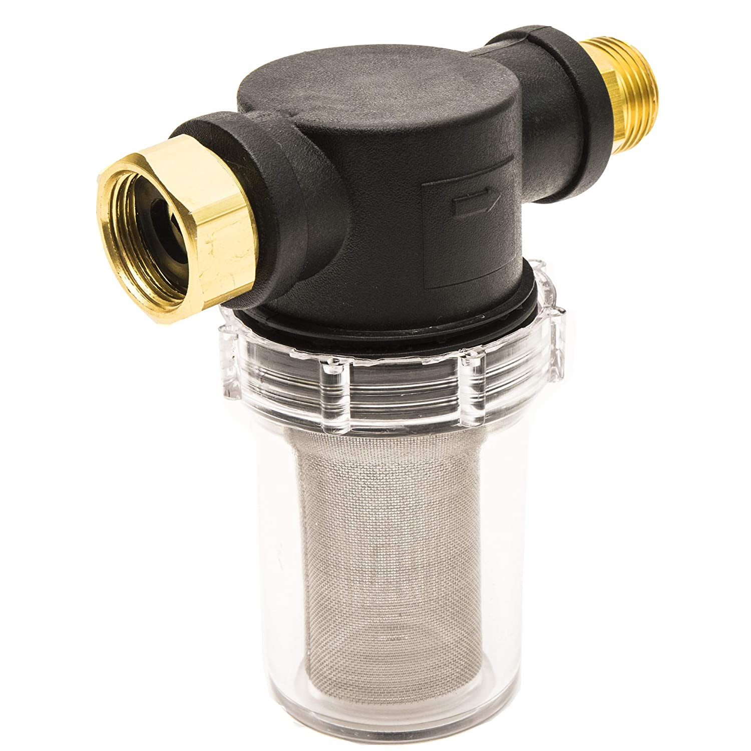 Thunder Hardware Sediment Filter Attachment for Garden Hoses and Pressure Washers(40 Mesh Screen)