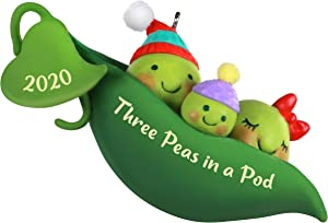 Hallmark Keepsake Christmas Ornament 2020 Year-Dated, Three Peas in a Pod New Baby