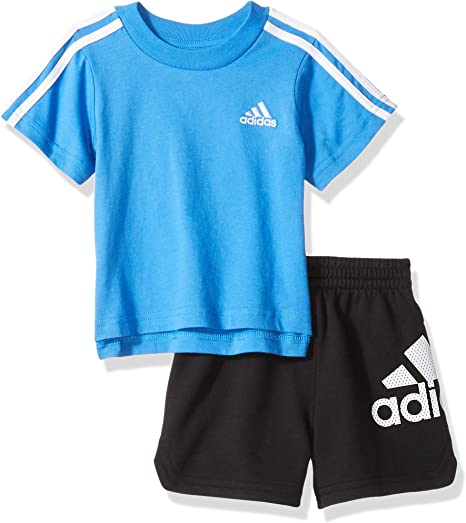 Adidas Originals Infant Girls Trefoil Shorts Set Tee /& Shorts Full Set Baby Kids