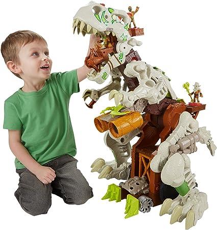 Amazon Com Fisher Price Imaginext Ultra T Rex Toys Games Características del imaginext transportador de dinosaurios de jurassic world. fisher price imaginext ultra t rex