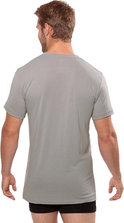 Loungewear Tee in Bamboo Viscose Meio Texere Mens V-Neck Luxury Undershirt