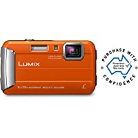 Panasonic Waterproof, Shockproof, Freezeproof, Dustproof Lumix FT30 Tough Underwater Digital Point and Shoot Camera, Orange (DMC-FT30GN-D)