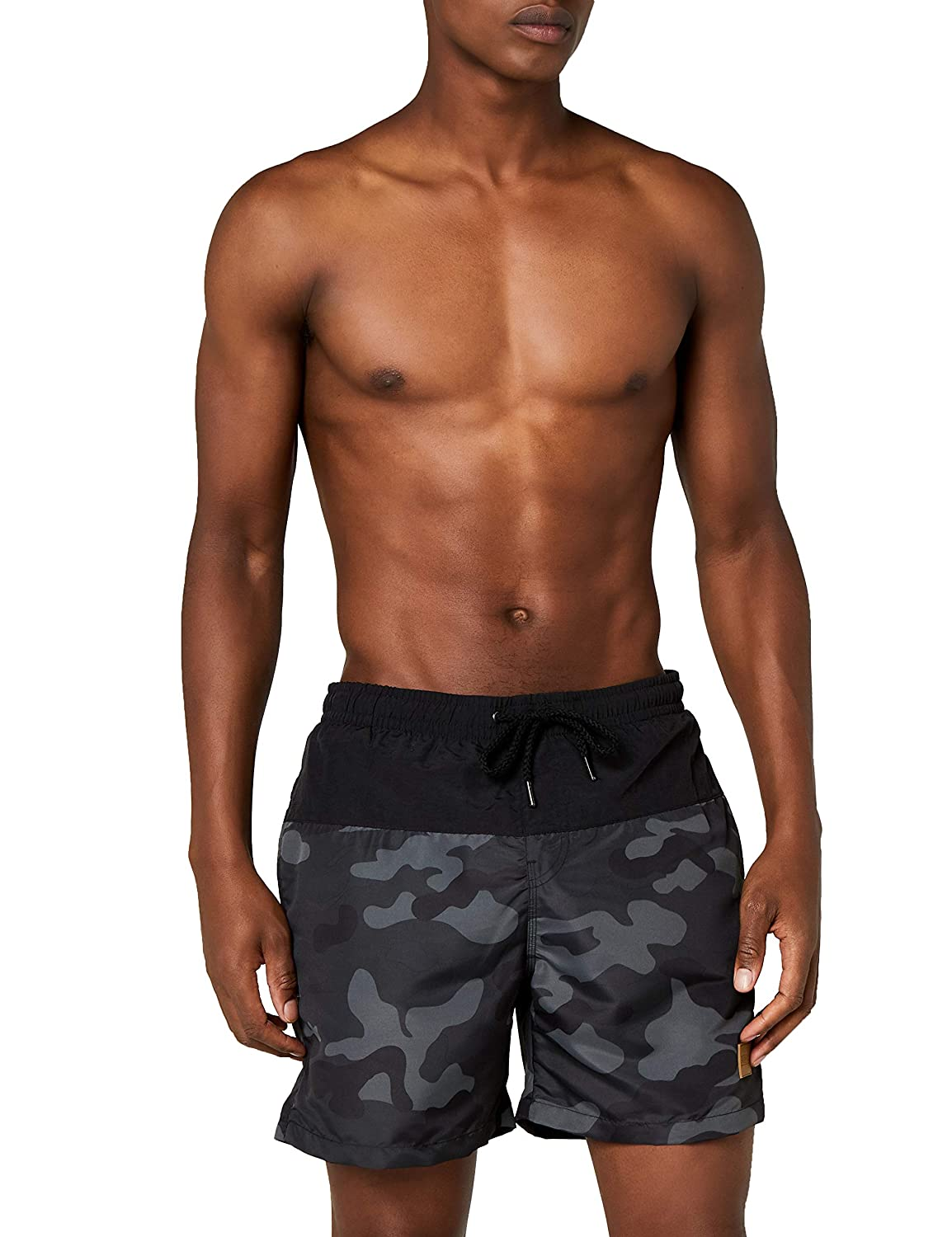 TALLA 5XL. Urban Classics Block Swim Shorts