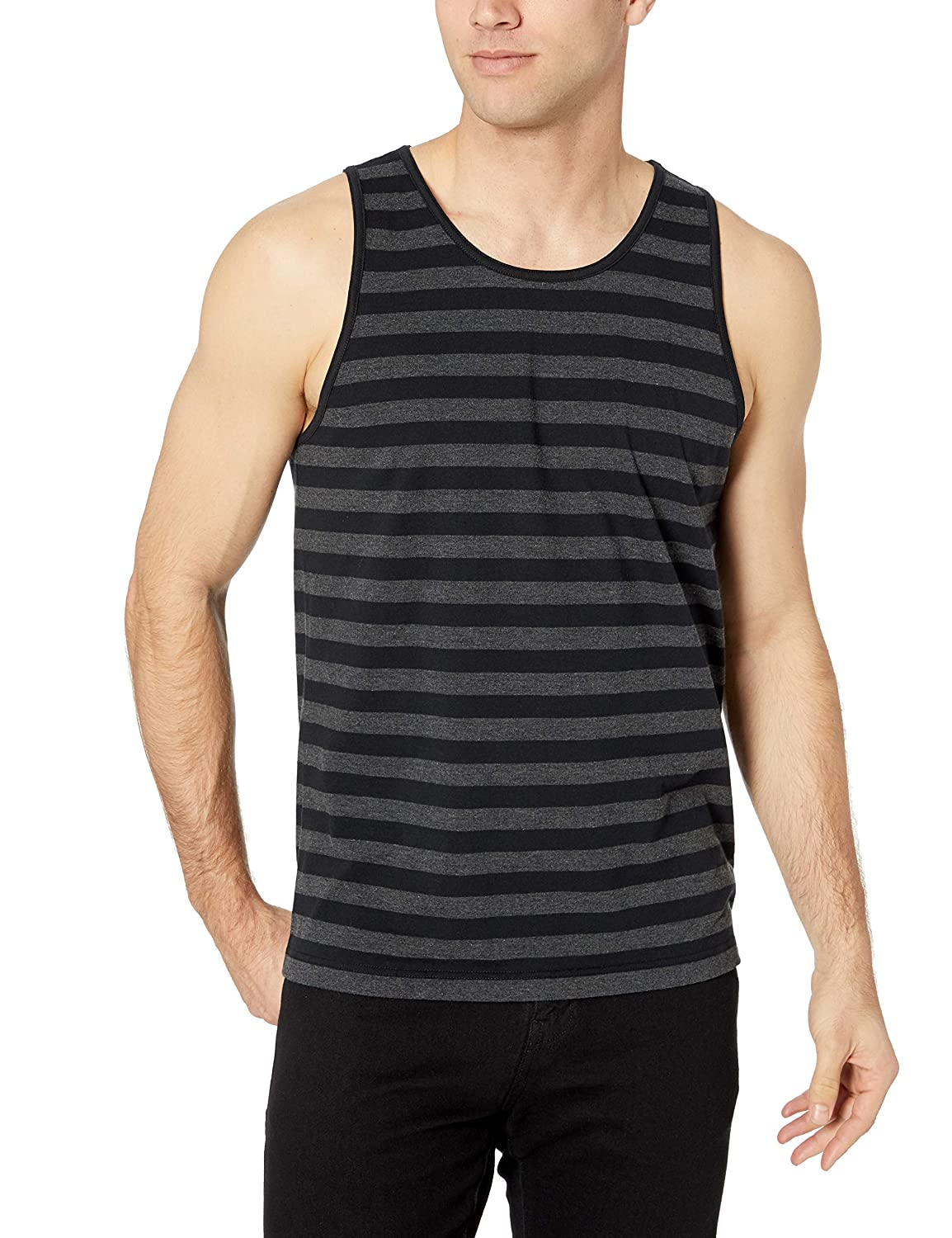 Essentials Mens Regular-fit Stripe Tank Top