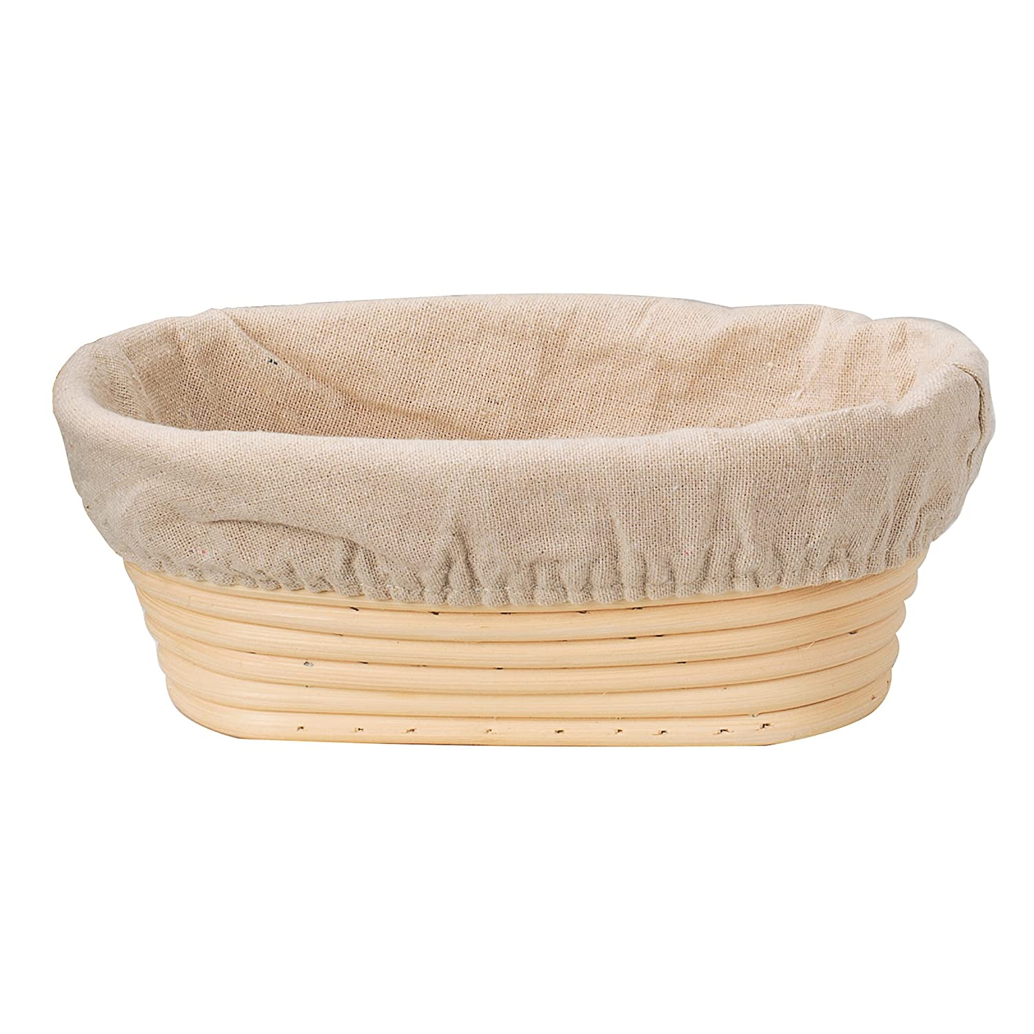 DOYOLLA 1pcs 8.5 Round Banneton Brotform Bread Dough Proofing Rising Rattan Basket & Liner by DOYOLLA bhmcixIq