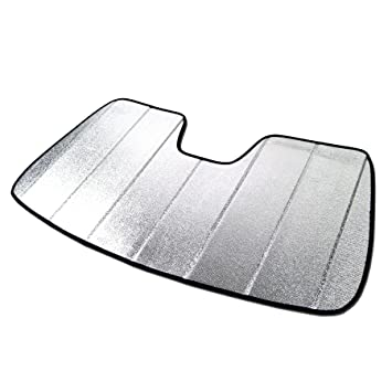 Amazon.com  TuningPros SS-081 Custom Fit Windshield Visor SunShade Heat  Shield Silver   Grey 1-pc Set  Automotive f63359bf6c6