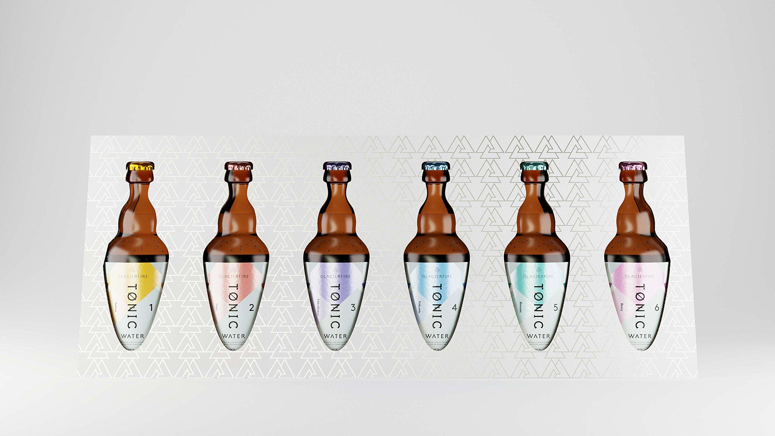 GlacierFire - Icelandic Tonic Water Gift Pack - 6 Flavors x 330ml Glass