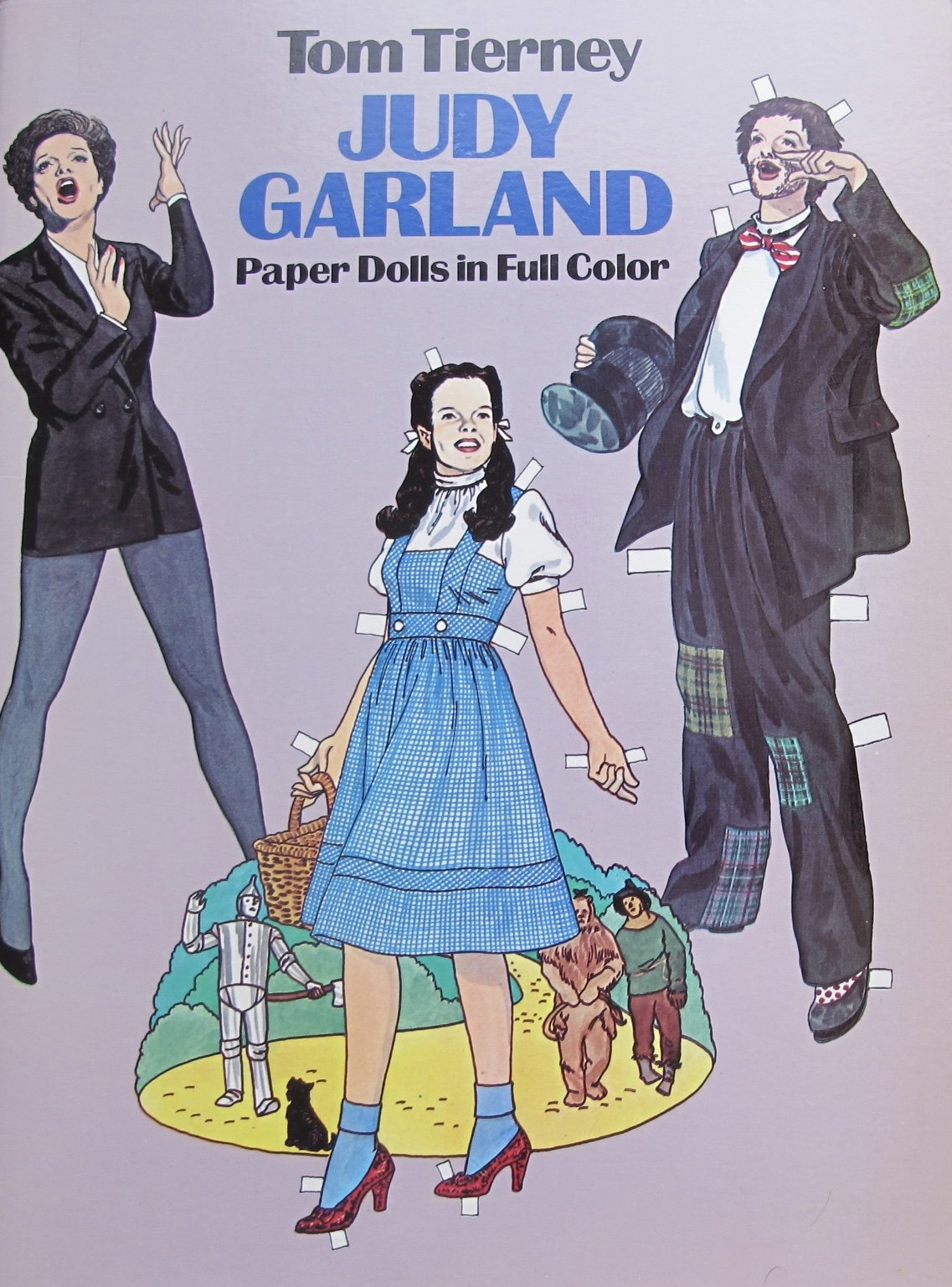 Tom Tierney JUDY GARLAND PAPER DOLLS BOOK (UNCUT) in Full COLOR w 2 Card Stock JUDY Cut-Out DOLLS & Fashions (1982 Dover)