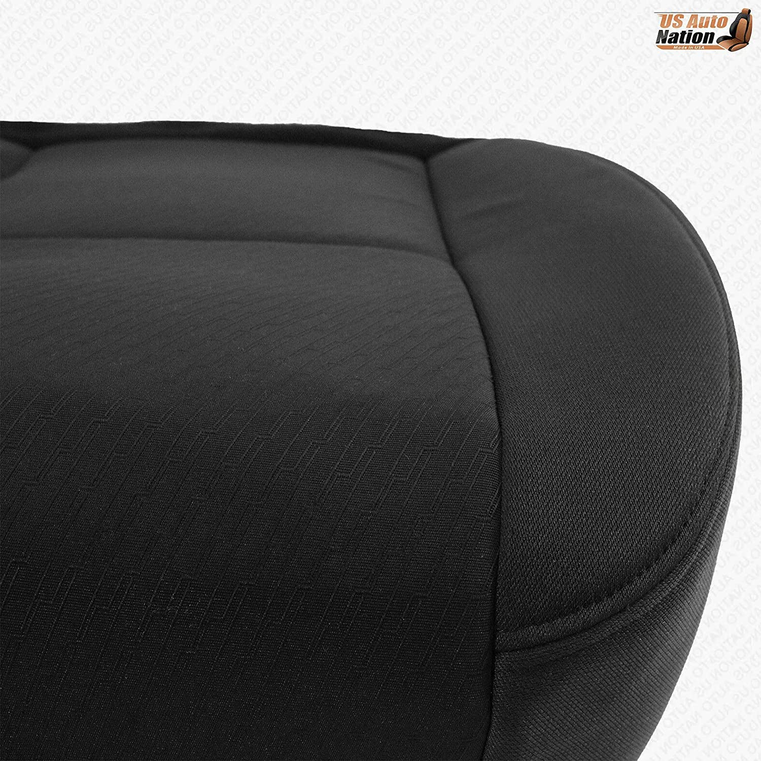 US Auto Nation GMC Sierra 1500 Passenger Bottom Replacement Cloth Seat Cover BLK
