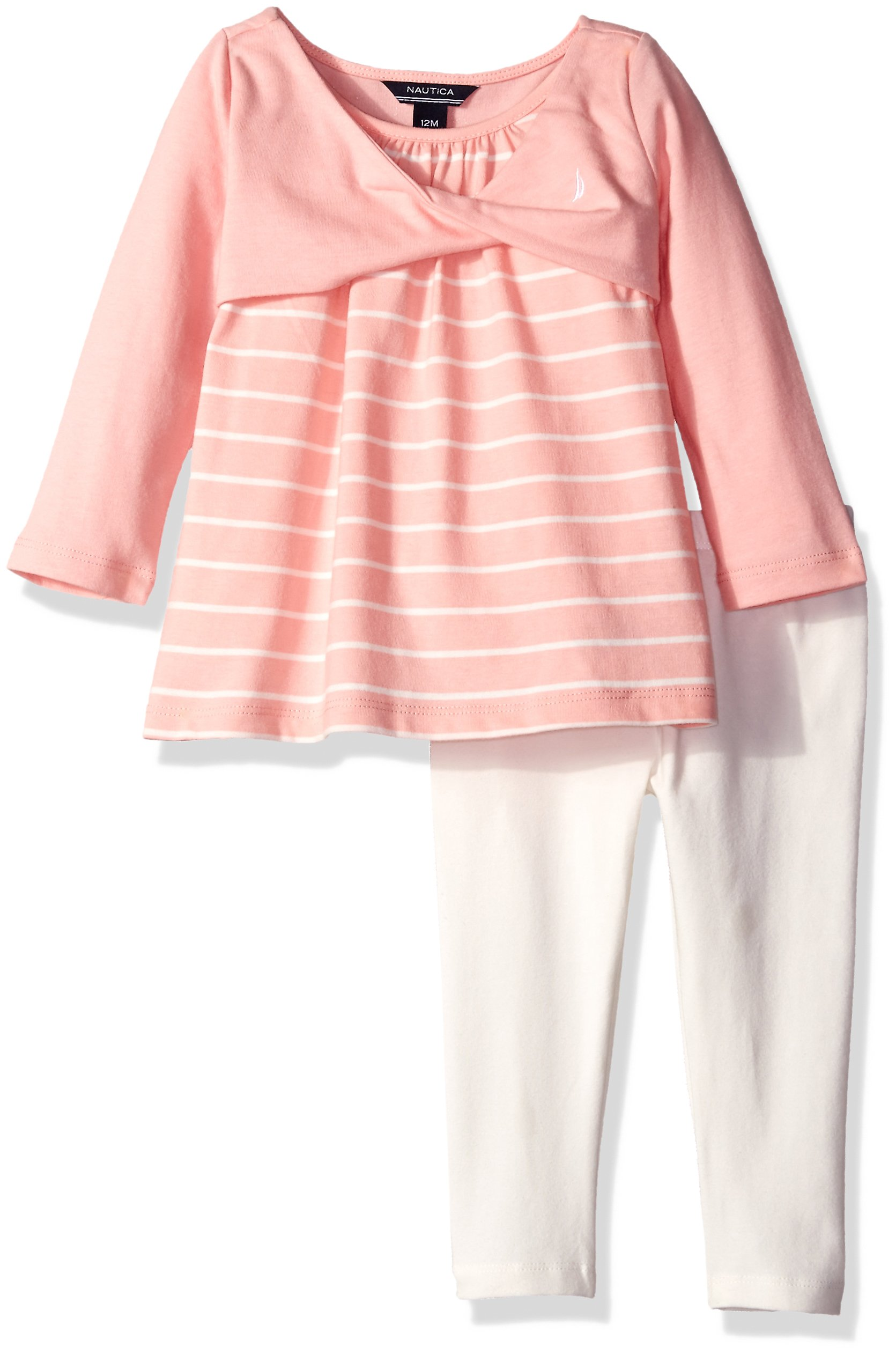Nautica Baby Knit Top and Legging, Pink, 18 Months