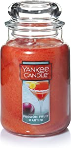 Yankee Candle Passion Fruit Martini Scented Premium Paraffin Grade Candle Wax with up to 150 Hour Burn Time, Large Jar