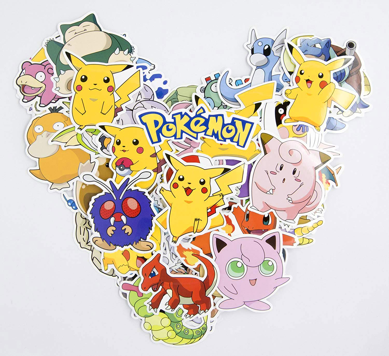 Sun Protection Waterproof Pokemon Pikachu Stickers 80 Pcs Great Gift For Pokemon Lover From Jack/_Go; HighQuality Vinyl Sticker