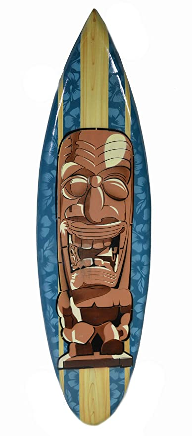 Amazon.com: WorldBazzar mano tallado Tiki Totem máscara ...