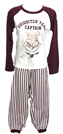 Love to Lounge Harry Potter Pyjamas Long Sleeve Cotton Size XS - XL (Ivory d4524e74362f