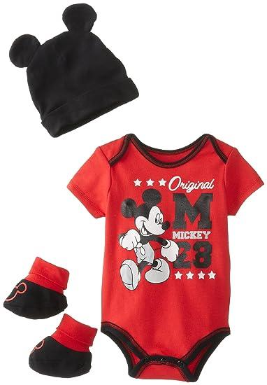 Amazon.com  Disney Baby Baby-Boys Newborn Disney s Mickey Mouse 3 ... 0bb9be0a3ff7