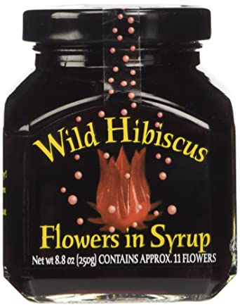 Wild Hibiscus Flowers In Syrup 250g Amazoncouk Grocery