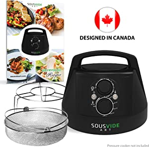 Air Fryer Lid for Instant Pot 6 Qt Pressure Cooker, 6 Qt Mealthy Pressure Cooker, 6 Qt Yedi Pressure Cooker - Crisplid for Pressure Cooker - Turn Your 6Qt Pressure Cooker into Air Fryer - Kit of Airfryer Lid for Air Fryer Cooking, Basket, Rack, Cookbook