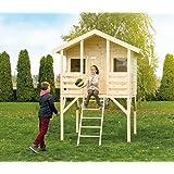 Kinderspielhaus Kinderstelzenhaus Spielhaus Fichte roh Stelzenhaus mit Leiter Modell Mattes
