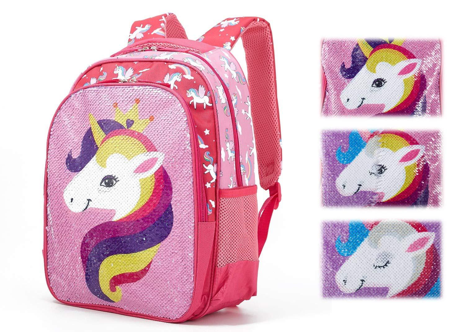 8fab78ac7262 Amazon.com | Iridescent Reversible Sequin Preschool Backpack ...