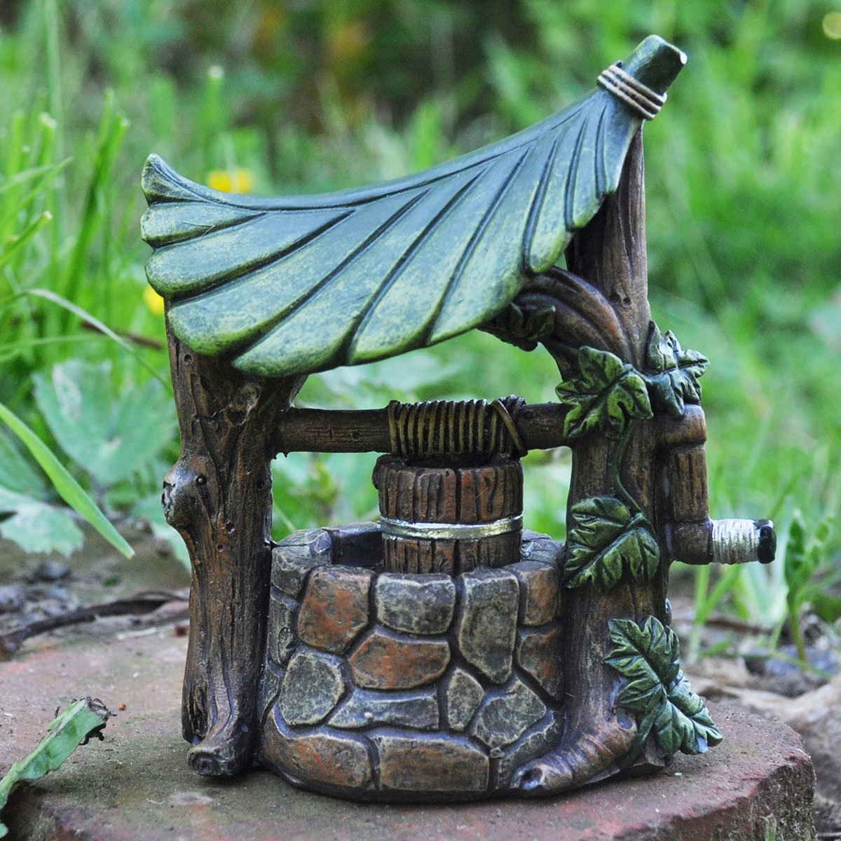 Fee Jardin Anglais Mini Wishing Well Jardin Miniature Decoration De
