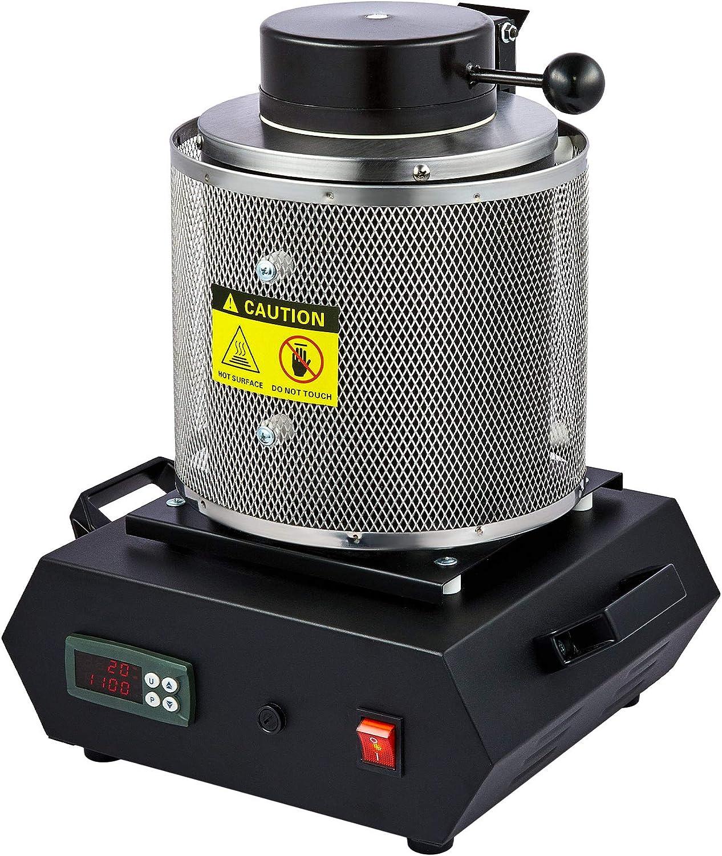 CO-Z 3kg Schmelzofen Maschine 1150℃ Goldschmelzender Ofen mit Schmelztiegel Schmelztiegelform und Zange 3 kg