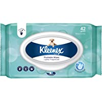 KLEENEX Flushable Wipes, Lightly Fragranced (10 x 42 Wipes)