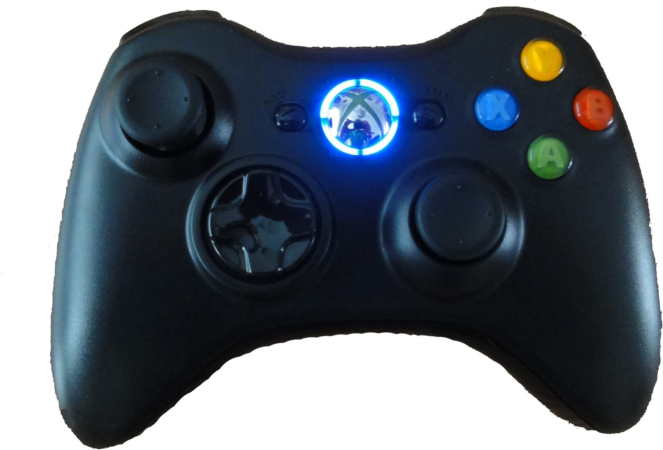 Black Xbox 360 Modded Controller (Rapid Fire, Blue LEDs) COD Ghosts, Call  of Duty Black Ops 2, MW2, MW3, Halo, GTA  many more