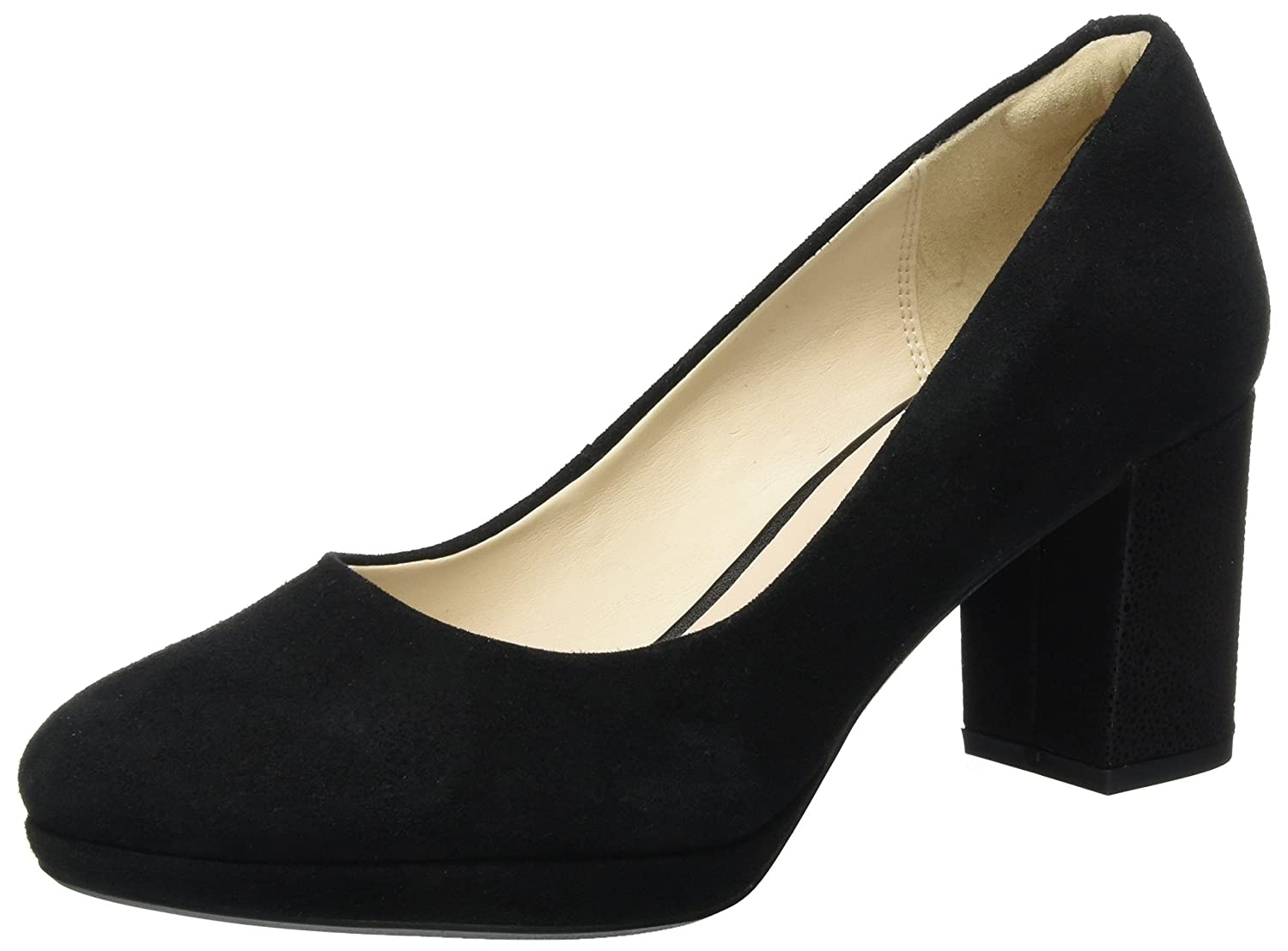 Clarks Damen Kelda Hope Pumps39 EU|Schwarz (Black Int Suede)