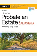 How to Probate an Estate in California Paperback