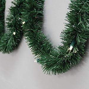 Brite Star Pine Lighted Garland, 18-Feet, Warm White