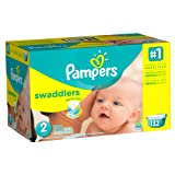 Amazon Price History for:Pampers Swaddlers Diapers Size 2 Giant Pack 132 Count