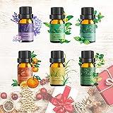 Aceite Esencial Puros,Ato Bea 6 * 10ml 100% Aceites Esenciales Naturales Lavanda, Hierba de Limón, Menta, Eucalipto…